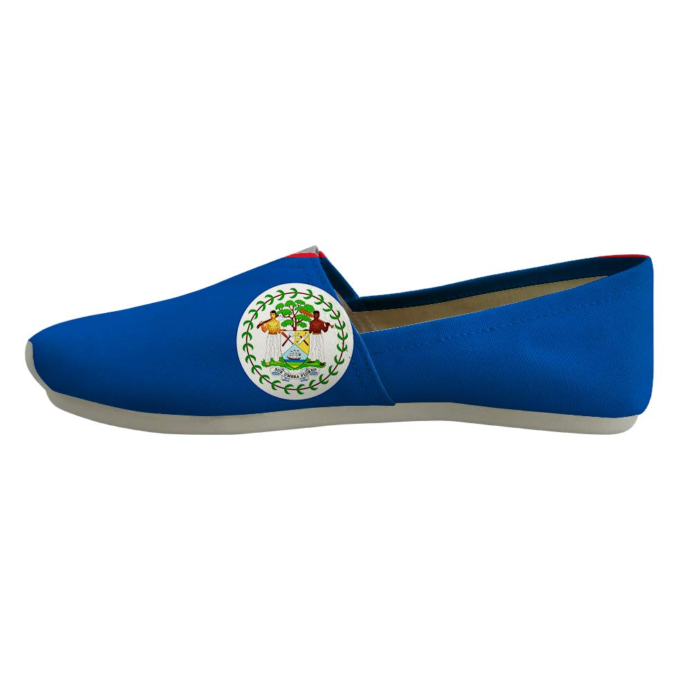 Classic Canvas Slip-On Lightweight Driving Shoes Soft Penny Loafers Men Women Belize Flag