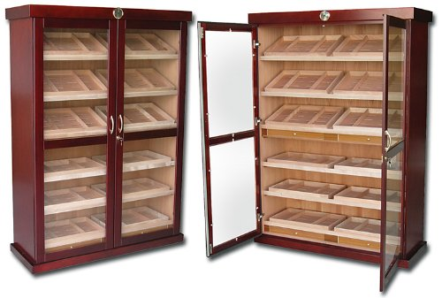 Prestige Import Group - The Bermuda Cabinet Display Humidor - Cherry Finish