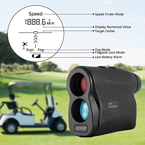 Nomtech 980yard Golf Laser Rangefinder with Fog, Scan, Speed Measurement for Hunting, Racing, Archery, Survey by Nomtech (Image #6)