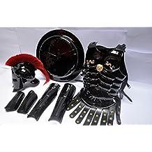 MEDIEVAL ROMAN KING LEONIDAS SPARTAN 300 MOVIE HELMET W/ RED PLUME +MUSCLE JACKET+SHIELD + LEG + ARM GUARDS 300 GREEK SPARTAN King Leonidas Gear of War Armor Shield leonidas helmet by NAUTICALMART