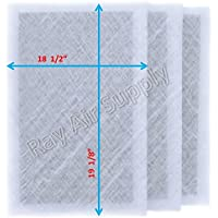 Dynamic Air Cleaner Replacement Filter Pads 20 x 21 5/8 Refills (3 Pack) White