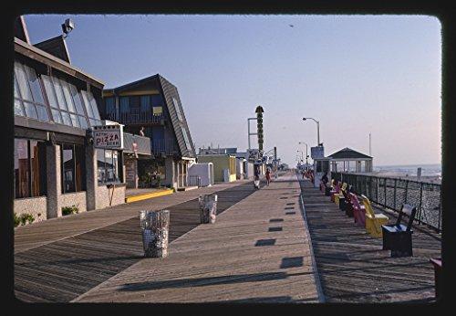 Vintography 8 x 12 Photo of Boardwalk A.M, Seaside Heights, New Jersey 1978 Margolies, John 19a -