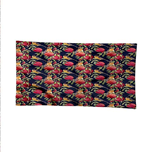 - Naturetapestrywall tapestryExotic Birds and Pomegranate 80W x 60L Inch