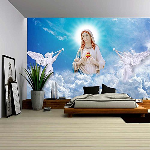 wall26 - Mary on Heaven - Removable Wall Mural |