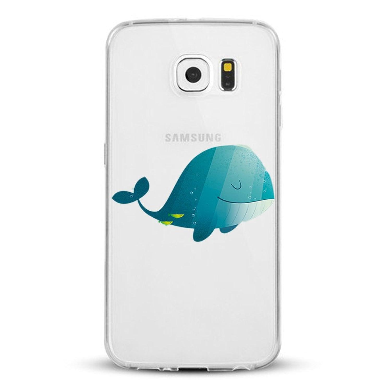 ( No para S6 edge plus ) Samsung Galaxy S6 Edge Carcasa , Qissy® TPU silicona pintada Funda para Samsung Galaxy S6 Edge Flexible Anti Rasguños Casco