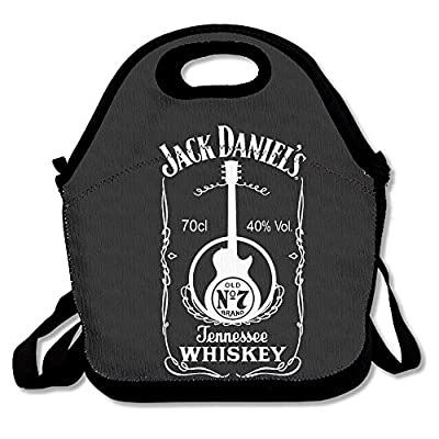 Jack Daniels Lunch Bag Lunch Boxes, Waterproof Outdoor Travel Picnic Lunch Box Bag Tote With Zipper And Adjustable Crossbody Strap