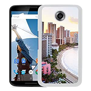 New Beautiful Custom Designed Cover Case For Google Nexus 6 With Waikiki Beach Hawaii (2) Phone Case