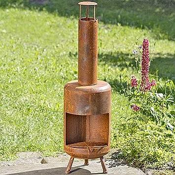 BHC Fuego Horno Bondi, Fuegos Columna Decorativa (, Hoguera Decoración Jardín Efecto Oxidado.: Amazon.es: Hogar