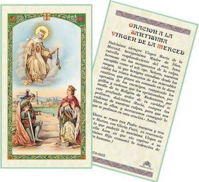 SPANISH BRAZO PODEROSO LAMINATED PRAYER CARDS 25//PKG