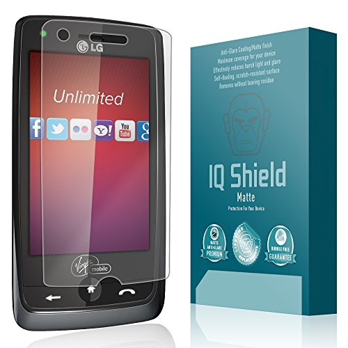 LG Rumor Touch Screen Protector, IQ Shield Matte Full Coverage Anti-Glare Screen Protector for LG Rumor Touch Bubble-Free Film - with