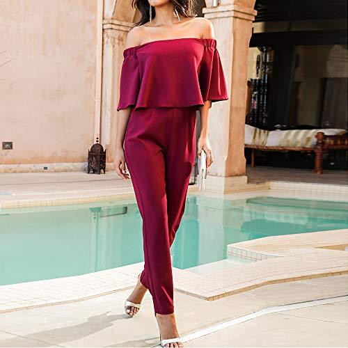 CICIYONER da con da Spiaggia Spiaggia Pantalone Donna per Rosso Pantaloni Donna ZFHqUZr