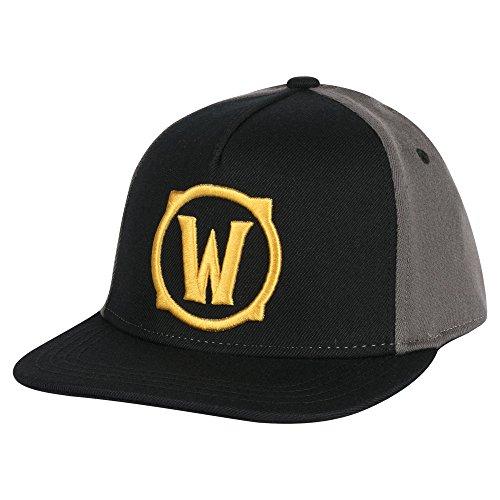 JINX World of Warcraft Iconic Stretch-Fit Baseball Hat, Gray, One Size