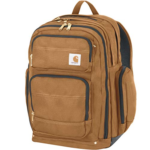 Carhartt Legacy Deluxe Work Backpack with 17-Inch Laptop Compartment, Carhartt Brown (Best Get Home Bag Backpack)