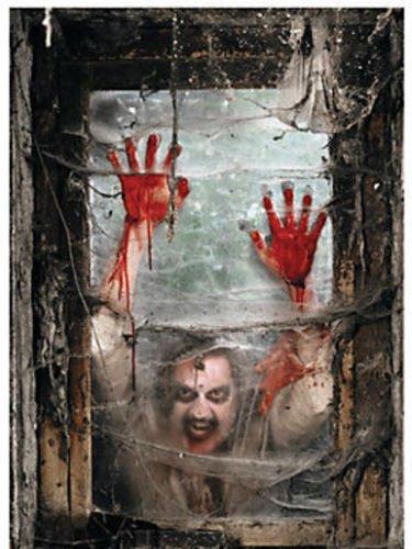 Zombie Queen Of Hearts Halloween Costume (luckybuy168 US STOCK 2 PCS. Halloween ZOMBIE window cover DECOR Backdrop Banner WALKING DEAD Apocalypse)