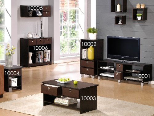 Amazon.com: Furinno 44 16.5 Inch Wood TV Entertainment Center With 2 Bin  Drawers, Espresso/Brown: Kitchen U0026 Dining