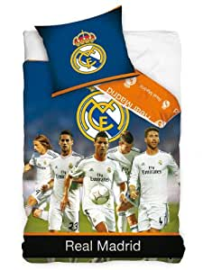 Real Madrid estrellas solo edredón y funda de almohada