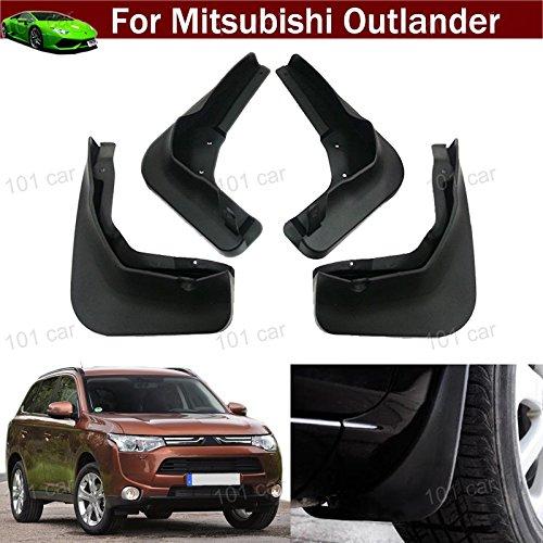 New 4pcs Black Color Front + Rear Car Mud Flaps Mudflaps Mud guards Mudguard Splash Guard Fender Pretector Custom Fit For Mitsubishi Outlander Sport 2015 2016 2017 2018
