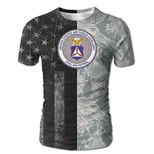 Indiana Wing Civil Air Patrol United States Squadron Air Force Men's Casual Short Sleeve Vibrant Tee Shirts