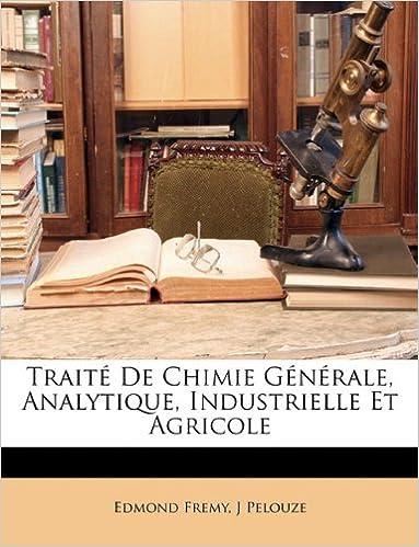 Livre gratuits en ligne Traite de Chimie Generale, Analytique, Industrielle Et Agricole epub, pdf