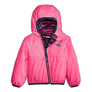 The North Face Baby Girls' Reversible Breezeway Wind Jacket - Gem Pink, 18