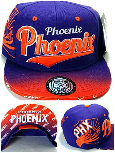 Legend of the Game Phoenix PHX New Top Pro The Flash Suns Colors Purple Orange Era Snapback Hat - Phx Hat Suns