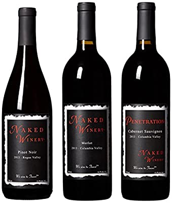 "Oregon & Washington ""Red Hot Trio"" Wines Bundle Mixed Pack, 3 x 750 mL, by Naked Winery by Naked Winery"