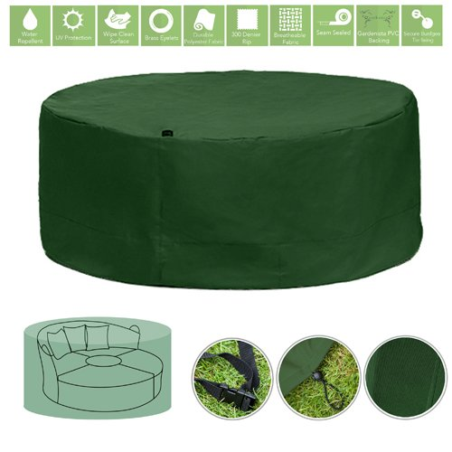 Green Water Resistant Outdoor Furniture Cover Protector for Garden Daybed Lounger Gardenista