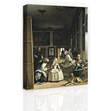 Las Meninas by Velazquez - 20 X 24 inch Canvas Print Wall Art Famous Oil Painting Reproduction Ready to Hang