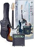Stagg ESURF 250 US Surfstar Electric Guitar and Amplifier Package - Sunburst
