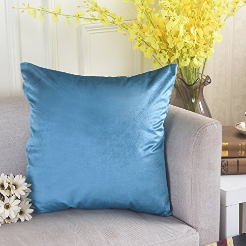Home Brilliant Soft Solid Velvet Euro Sham Pilowcase Cushion Cover for Patio/ Sectional Seat/ Lovechiar, 26