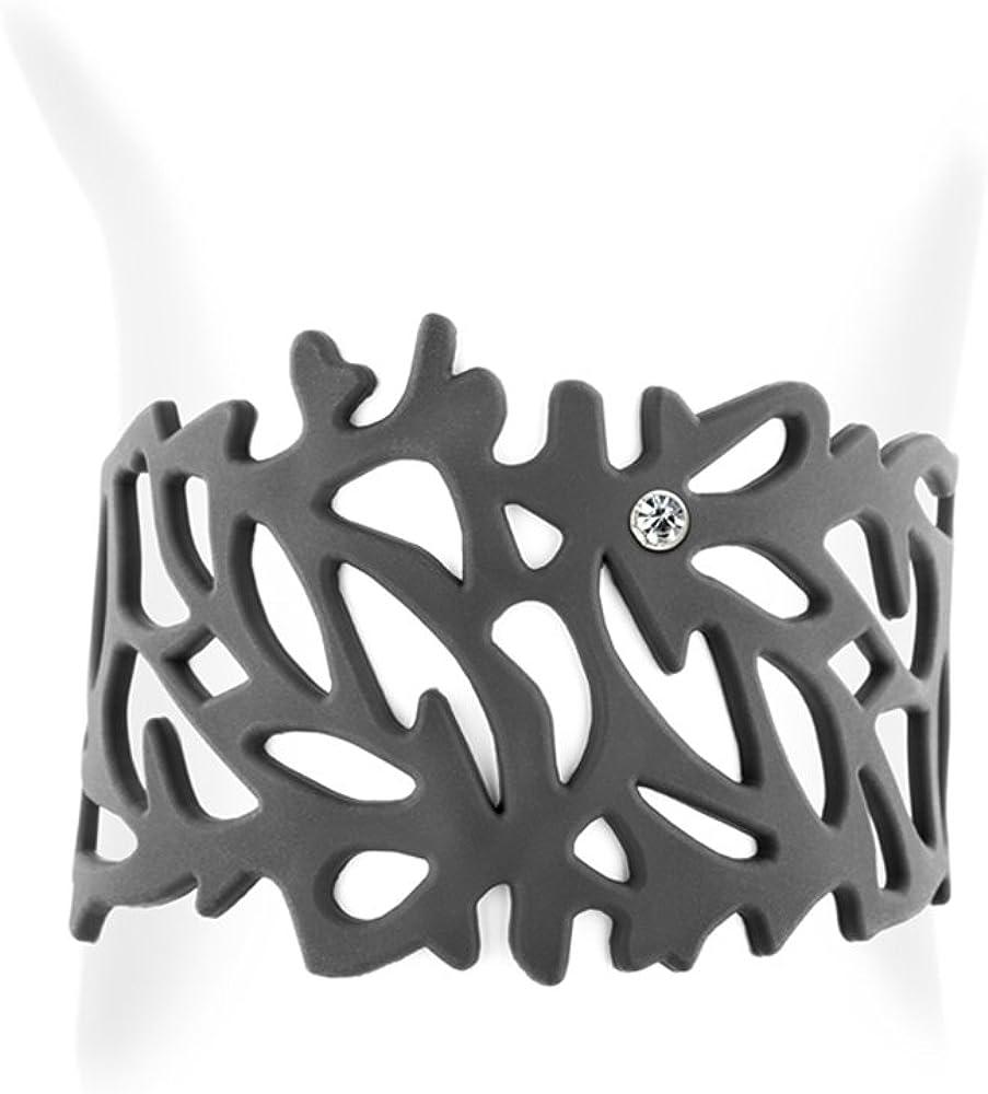 Black Silicone Gum Coral Bracelet Effect Tatto LAD 0104 G LAD 0104 G Blue Pearls