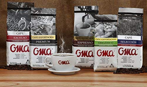 Amazon.com : Export Line Premium OMA Coffee Bean 100% Colombian, 500g : Roasted Coffee Beans : Grocery & Gourmet Food