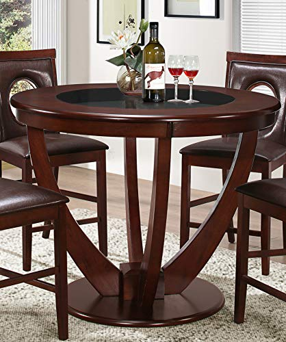 Best Master Furniture WA610 Jackson 48 in. Round Counter Height Dining Table, Cherry