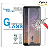 Galaxy Note 8 Screen Protector, Arukas 3D Curved Edge Ultra Clear 9H Hardness Case Friendly (Full Coverage)(Easy Installation) Bubble-Free Anti-Scratch Glass For Samsung Galaxy Note 8 (2 pack)