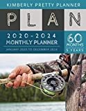 5 year monthly planner 2020-2024: 2020-2024 Five Year Planner : internet Logbook and Journal, 60 Months Calendar (5 Year Monthly Plan Year 2020, 2021, 2022, 2023, 2024 ) | fishing for blue fish design