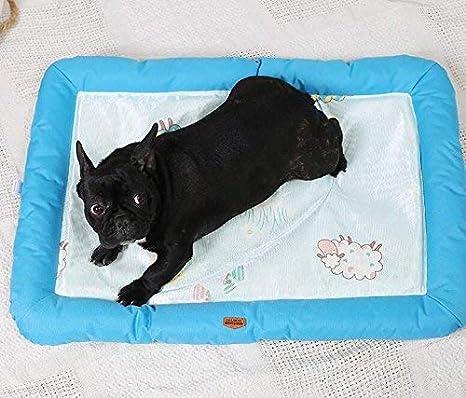 NANIH PetSuppliesMisc Summer Pet Dog Mat Cama Dog Puppy Cooling Mat Pad Cojín Cama para Pitbull