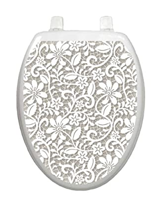 Lovely Lace Toilet Tattoo TT-1089-O Elongated Theme Elegant Cover Bathroom