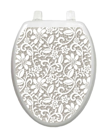 Lovely Lace Toilet Tattoo TT-1089-O Elongated by Toilet Tattoo