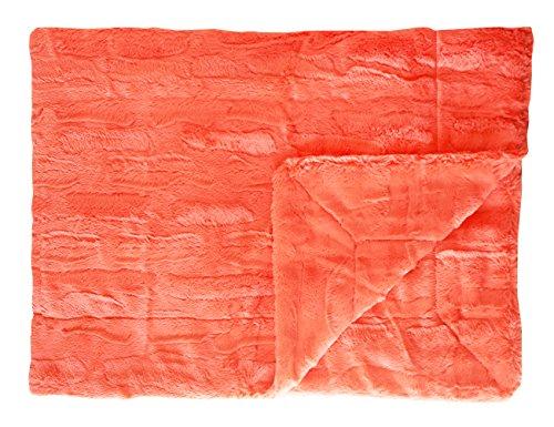 (Minky Couture Premium Blanket - Soft, Warm, Cozy, Comfortable, (Grande, Sorbet Tangerine))