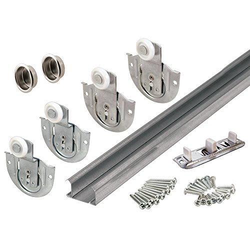Prime-Line Products 163592 Bypass Closet Track Kit, 96-Inch