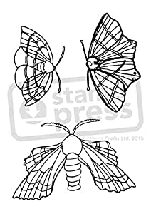 A7'mariposa nocturna de llew mejia' sello de goma (sin montar (sp00003628)