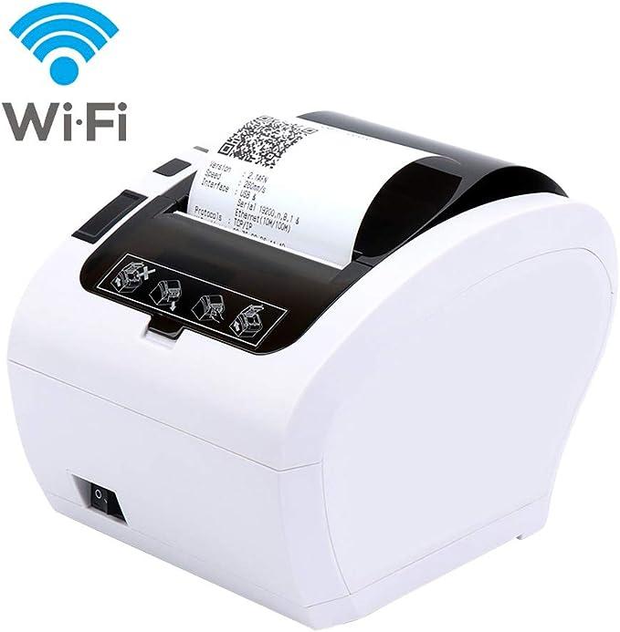 MUNBYN Impresora de Ticket Térmica WIFI Inalámbrica, Tiketera de ...