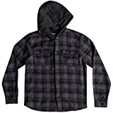 Quiksilver Big Boys' Long Sleeve Snap up Youth Flannel Shirt, MGH Snap up, L/14