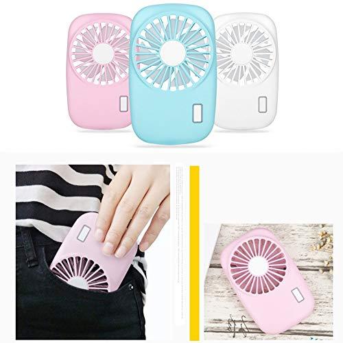 Mouchao Mini Ventilador de enfriamiento Recargable del Aire Acondicionado de la Fan port/átil del USB de Mano