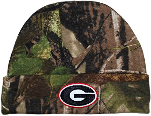 (University of Georgia Bulldogs Realtree Camo Newborn Knit Cap )