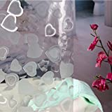 Wimaha Loving Hearts 3D Shower Curtain Mildew Resistant Waterproof Shower Curtain with Shower Curtain Hooks and Metal Grommets