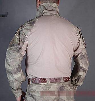 H Mundo EU Emerson Tactical Airsoft Paintball Ej/ército Militar Tiro BDU Hombres Gen3/G3/Lucha Manga Larga Camiseta con Coderas Pads