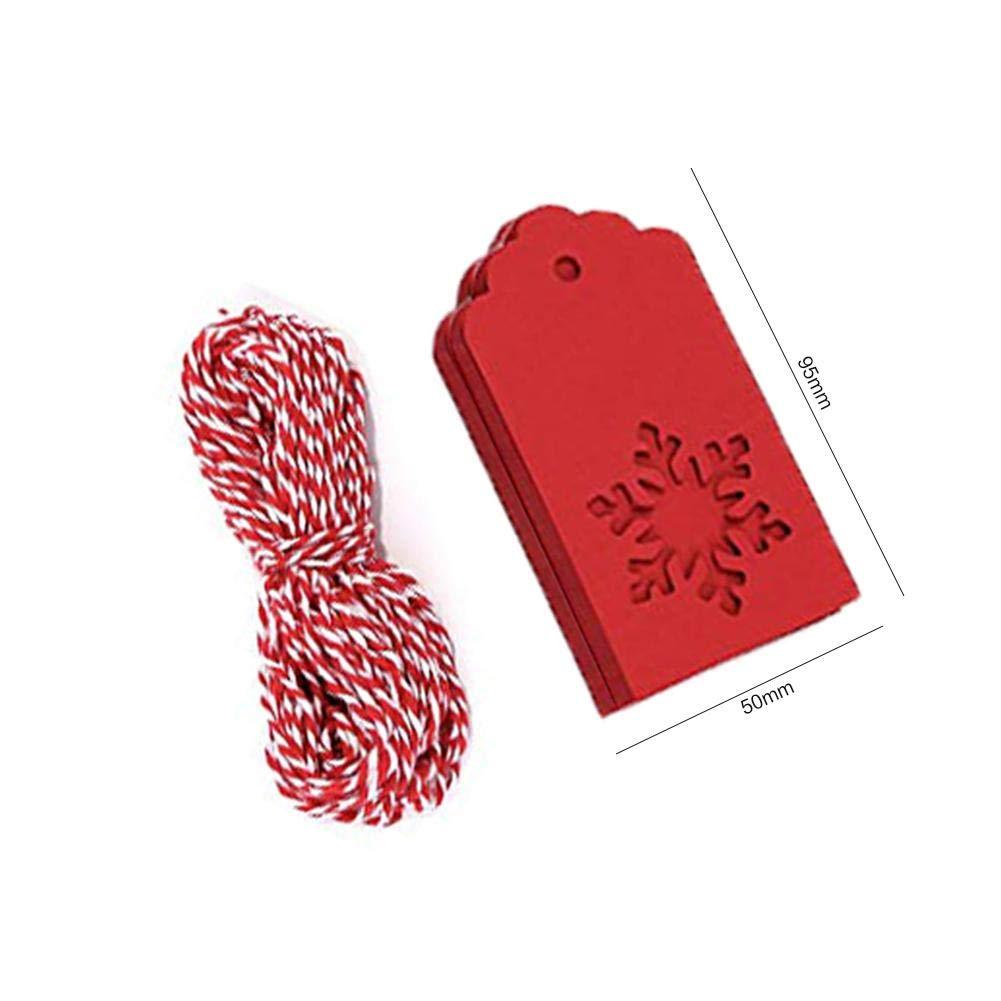 Cartoncino per Matrimonio Bigliettino di Carta Kraft Carta Perfetti Come Regali di Natale 50 Pezzi Etichette in Carta Kraft con Corda 10m