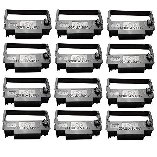 12pack Gorilla Supply ERC 30 34 38 Ink Ribbon Replacement for Epson ERC-30 ERC-34 ERC-38, Black