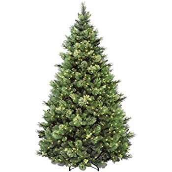 National Tree 7.5 Foot Carolina Pine Tree with Flocked Cones and 750 Clear  Lights, Hinged (CAP3-306-75) - Amazon.com: Martha Stewart Living Pre-Lit LED Alexander Pine